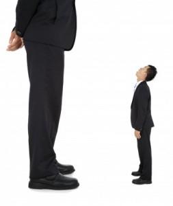 grote en kleine man